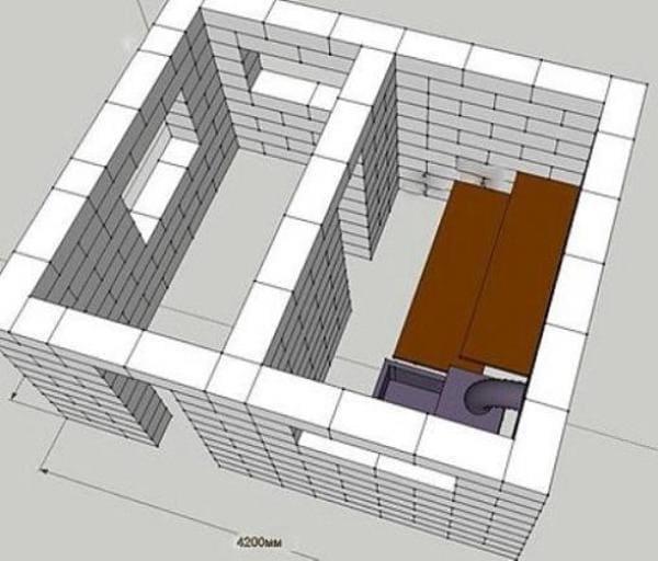 Баня 3 На 3 Из Блоков Своими Руками