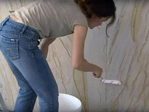Технология нанесения гибкого камня в интерьере