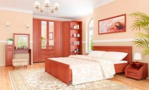 Как выглядит мебель цвета светлого ореха