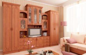 Как выглядит мебель цвета светлого ореха 7