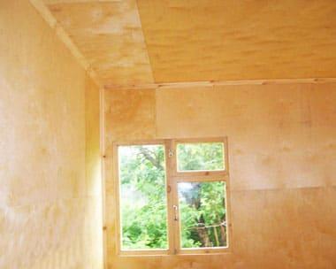 Как обшить фанерой дом внутри, отделка стен и потолков своими руками: пошаговая инструкция - Обзор + Видео