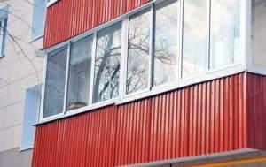 Как отделать балкон профнастилом своими руками? Отделка снаружи и внутри - Пошагово + Видео