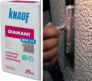 Кнауф Диамант- декоративная штукатурка: Особенности состава и способы нанесения - Обзор + Видео