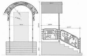 Крыльцо из металла к дому своими руками: Проекты и чертежи + Фото и Видео