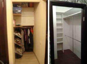 Маленькие гардеробные комнаты из кладовки: Обзор + Фото