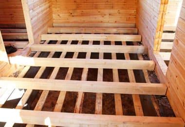 Монтаж деревянного пола в деревенском доме: настил на лаги или бетонное основание своими руками: Пошаговая инструкция - Обзор + Видео