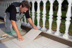 Монтаж уличной керамической плитки 10
