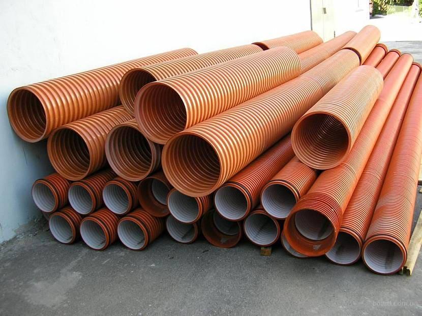 Пластиковые дренажные трубы