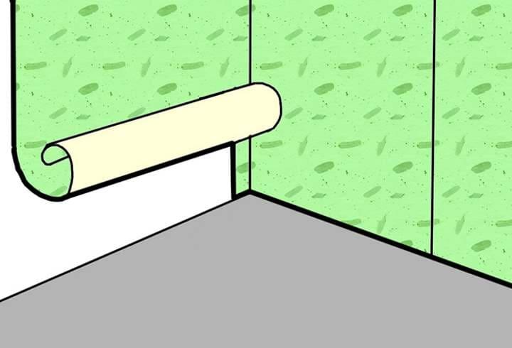 Правильно клеим обои в углах комнаты своими руками, если углы неровные: Инструкция + Видео