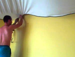 Ситцевый натяжной потолок: фото + отзывы