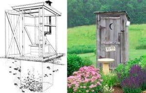Строительство деревенского туалета своими руками 5