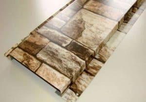 Металлический сайдинг под камень: Фото- достоинства и недостатки + Фото