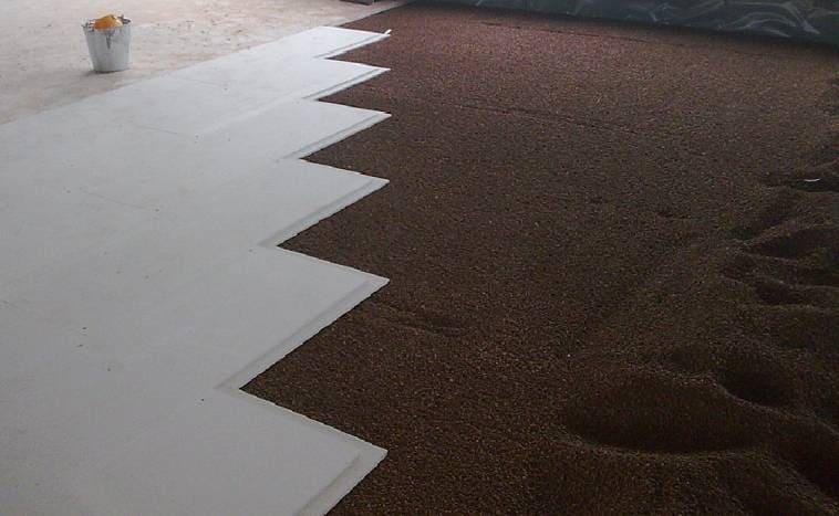 Сухая стяжка по керамзиту