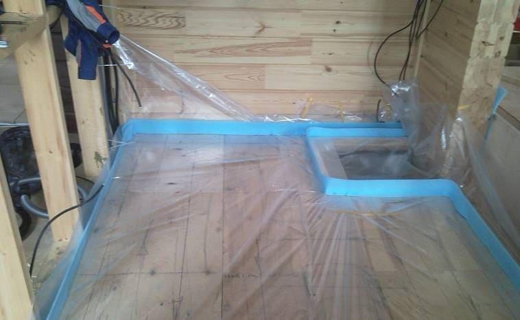 Покрытие деревянного пола полимерной пленкой