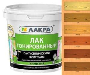 Тонированный лак – цветовая гамма и характеристики состава