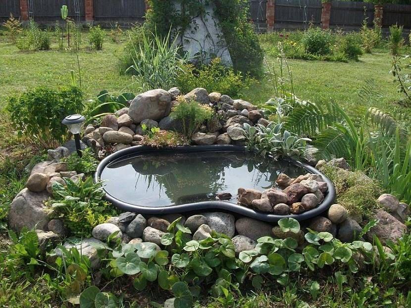 Альпийская горка для сада и пруд