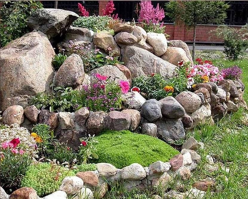 Альпийская горка для сада