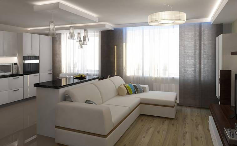 Дизайн кухни гостиной на 25 кв