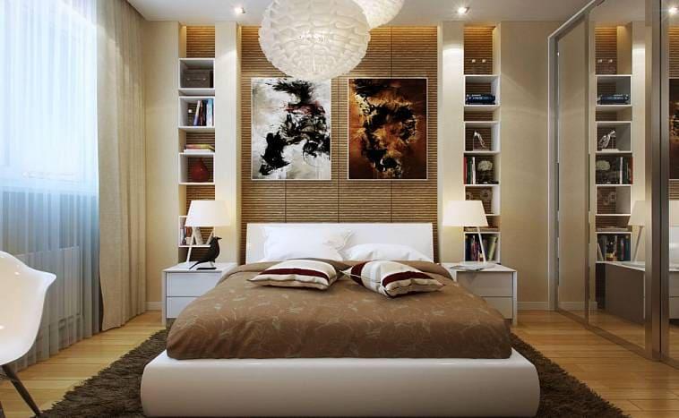 Дизайн-проект спальни на 11 кв м