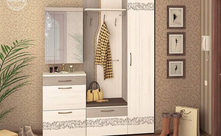 Шкаф в прихожую с местом для зеркала