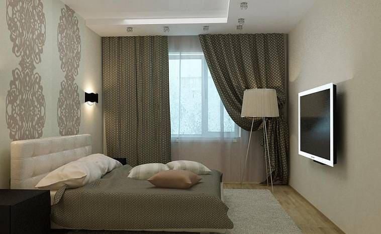 Дизайн спальни на 12 кв м в панельном доме