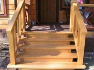 Надежная Деревянная лестница для крыльца своими руками: мастер класс +Видео
