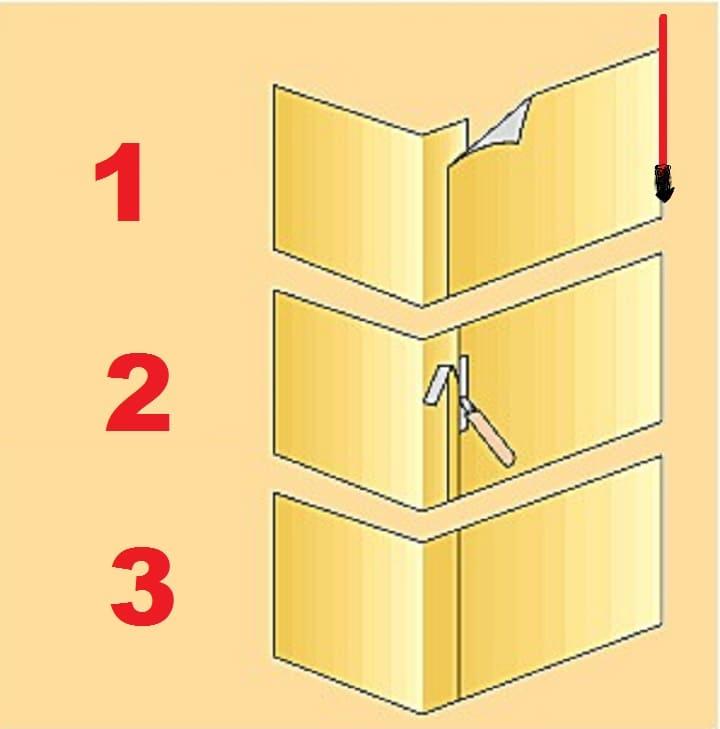 Правильно клеим обои в углах комнаты своими руками, если углы