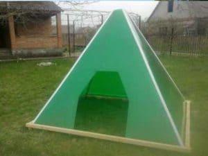 Как построить пирамиду на даче: чертежи и размеры