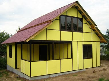 Строительство дома из сэндвич панелей своими руками? +Видео и Пошаговая