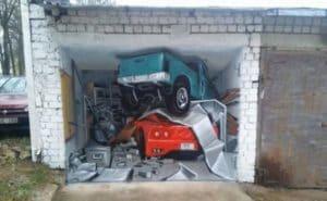 Рисунки на гараже и гаражных воротах: Идеи +Фото- Как разрисовать