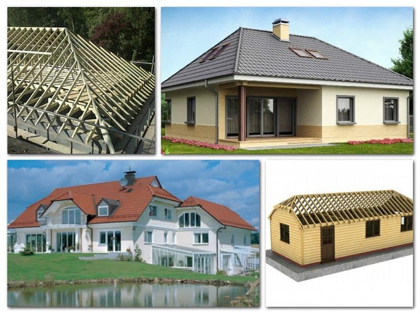 Особенности и конструкция вальмовой крыши