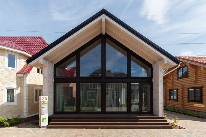 Фасад фахверкового дома