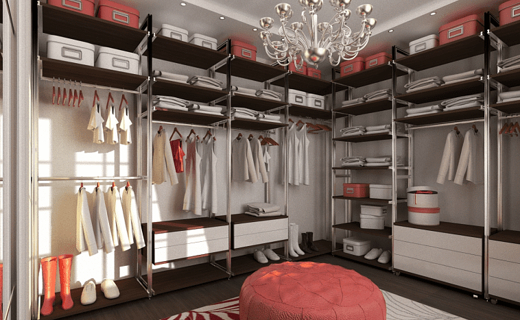Стелажи в гардеробной