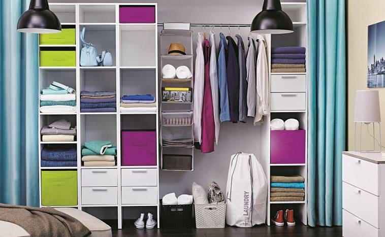 Просторная гардеробная шкаф купе