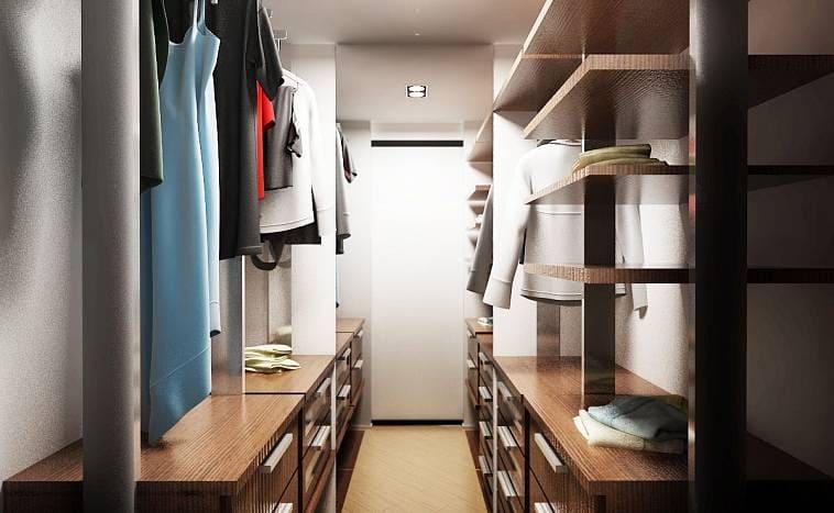 Модульная мебель в гардеробной