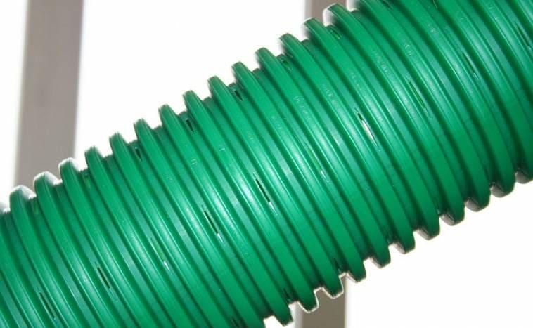 Дренажная пластиковая труба гофрированная