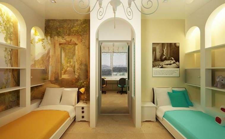Интерьер комнаты для двоих взрослых