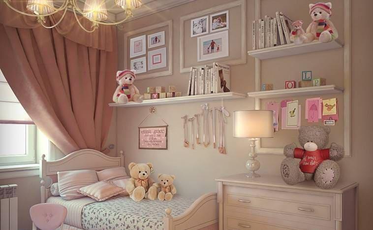 Детская комната для девочки в пастельных тонах