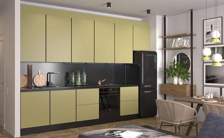 Кухни оливкового цвета