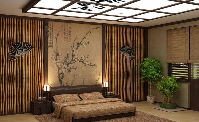 Интерьер коттеджа в японском стиле