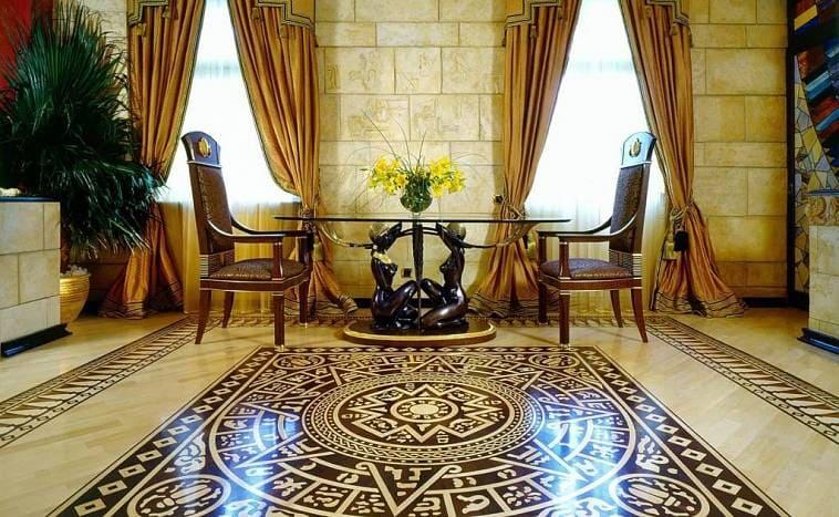 Интерьер дома в египетском стиле
