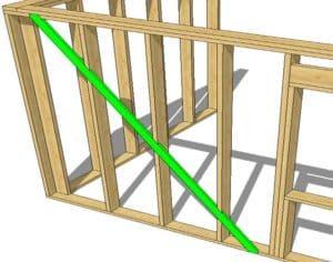 Укосины в каркасном доме – технология установки, пошаговая инструкция +Фото