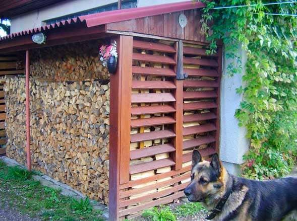 Как сделать навес для дров на даче своими руками: из