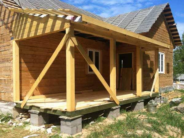 Как пристроить веранду к дачному дому строим своими руками: пошаговая