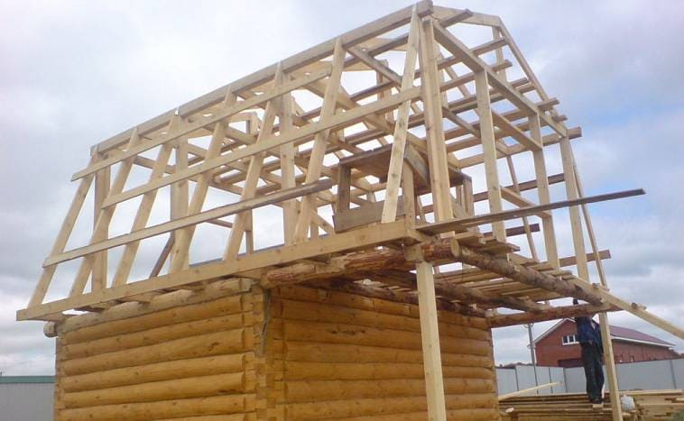 Стропильная конструкция мансардной крыши