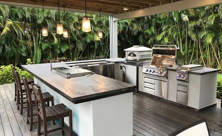 Азиатский стиль в обустройстве летней кухни