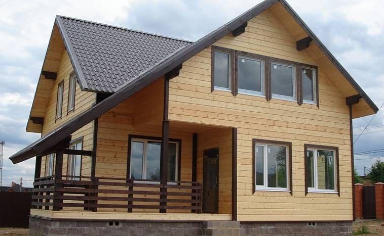 Дом, построенный по каркасной технологии