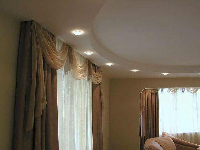 Двухуровневые потолки в дизайне интерьера