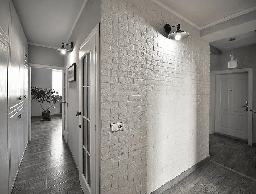 Как красиво сделать стены в прихожей 014