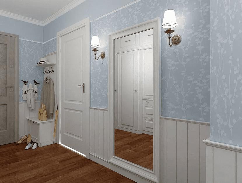 Как красиво сделать стены в прихожей 022